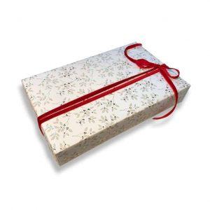 ROSSI Presentpapper Holly Lyxigt inslagningspapper Folierat och präglat