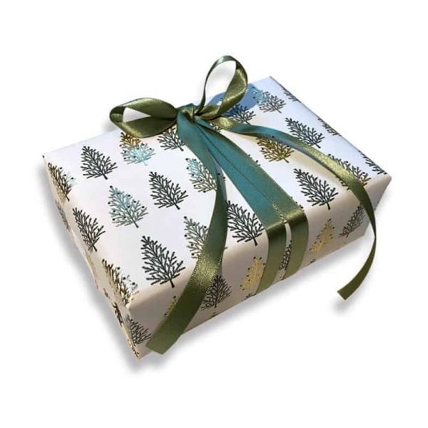 ROSSI Presentpapper Christmas Tree Lyxigt julpapper julgranar Kalenderspecialisten