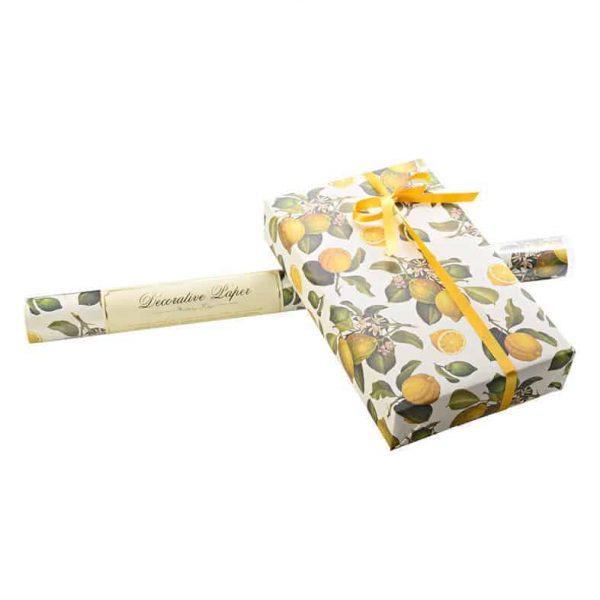Presentpapper ROSSI Lemons Lyxigt inslagningspapper med Citroner
