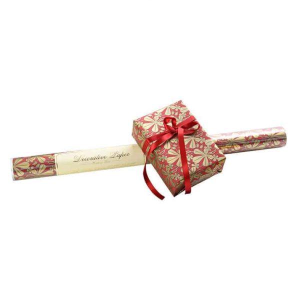 Presentpapper ROSSI Liberty leaves Lyxigt inslagningspapper