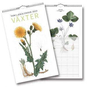 Familjekalender Växter 2020 Väggkalender 2020 Kalenderspecialisten