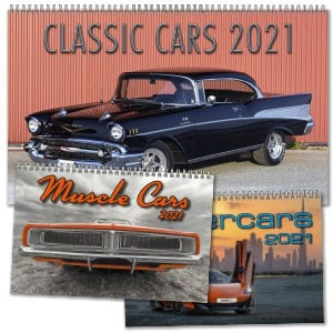 Kalendrar med bilar 2021 Kalenderspecialisten