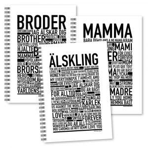 Skrivböcker Familjen