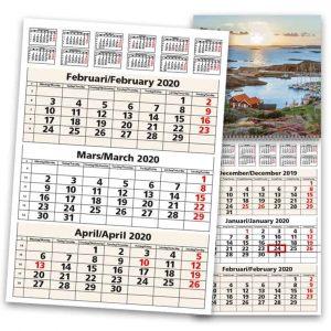 Väggkalender 3-plan 2020 Kalenderspecialisten