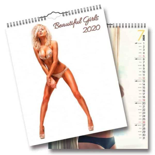 Väggkalender Beautiful Girls 2020 lättklädda brudar Kalenderspecialisten
