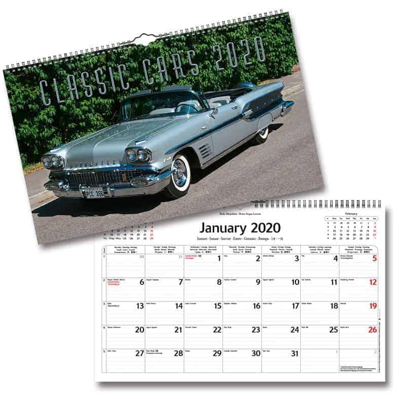 Kalendrar med bilar 2020 Stort urval Kalenderspecialisten