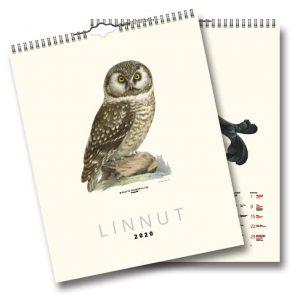 Väggkalender Fåglar FINSK väggalmanacka med illustrationer av von Wright Kalenderspecialisten