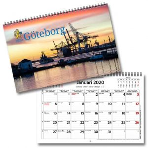 Väggkalender Göteborg 2020 Kalenderspecialisten