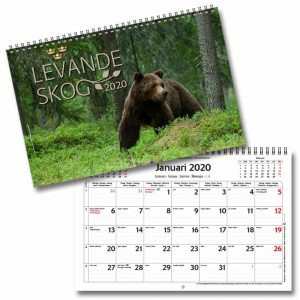 Väggkalender Levande Skog 2020 bilder på vilda svenska djur Kalenderspecialisten