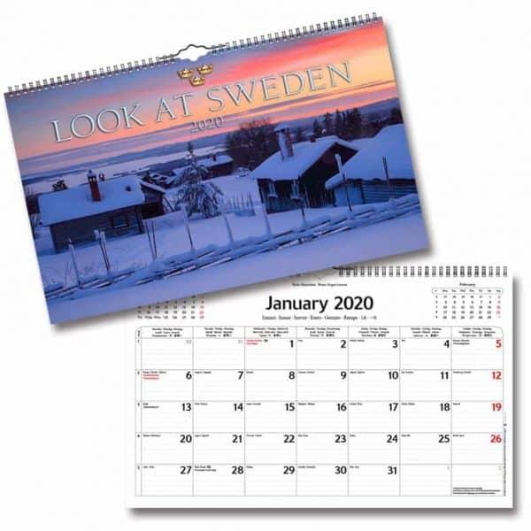Väggkalender Look at_Sweden 2020 Vackra bilder på Sverige Kalenderspecialisten