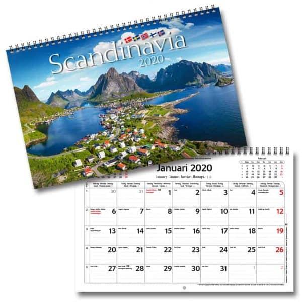 Väggkalender Scandinavia 2020 Kalenderspecialisten