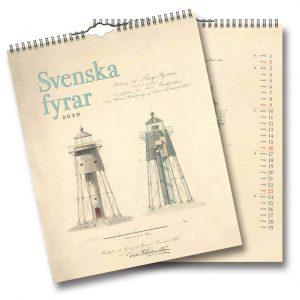 Väggkalender Svenska Fyrar 2020 Vackra fyrar Kalenderspecialisten