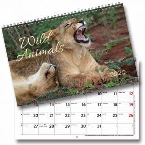 Väggkalender Wild Animals 2020 Väggalmanacka vilda djur foton av ekonomijournalist Anders Andersson Kalenderspecialisten