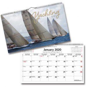 Väggkalender yachting 2020 Segelbåtar Kalenderspecialisten