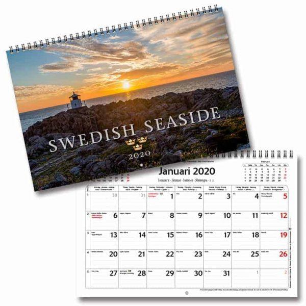 Väggkalender Swedish Seaside 2020 Väggalmanacka med vackra bilder från Sveriges skärgård Kalenderspecialieten