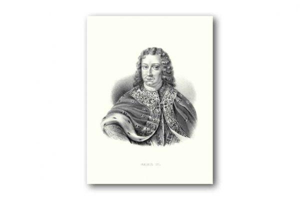 Poster och affisch Medium 300x400mm Svensk Kung Karl XI kalenderspecialisten