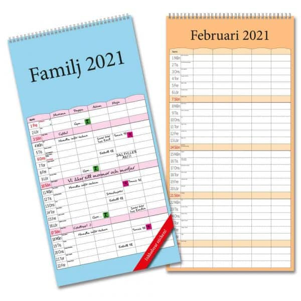 Familjekalendrar 2021 Stort urval Kalenderspecialisten.
