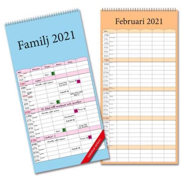 Familjekalender Färg 2021 är en av våra populära fam,ijekalendrar.
