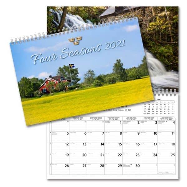 Väggkalender Four Seasons 2021 med vackra bilder över Sveriges årstider Kalenderspecialisten