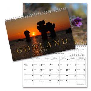 Väggkalender Gotland 2021 med vackra bilder från Gotland av naturfotograf Harriet Cederqvist Kalenderspecialisten
