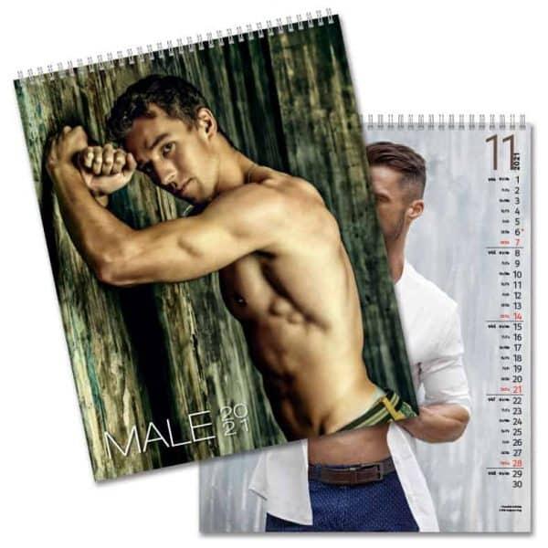 Väggkalender Male 2021 Kalender med snygga killar Kalenderspecialisten