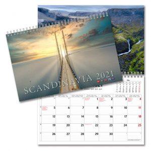 Väggkalender Scandinavia 2021 med bilder från alla länder i Skandinavien Kalenderspecialisten