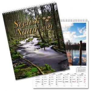 Väggkalender Svensk Natur 2021 från Kalenderspecialisten