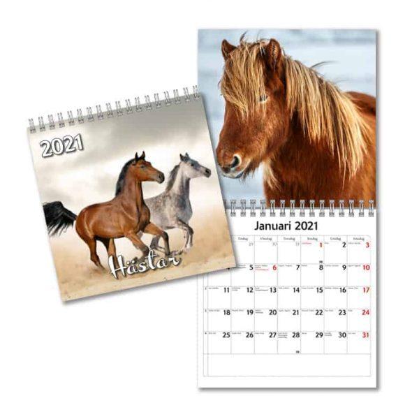 Väggkalender Hästar Mini 2021 Almanacka med vackra Hästar kalenderspecialisten