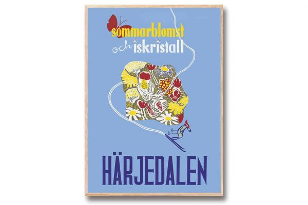 Poster Härjedalen 30x40 cm Retroposter Reseposter Come to Sweden Gullers Trading