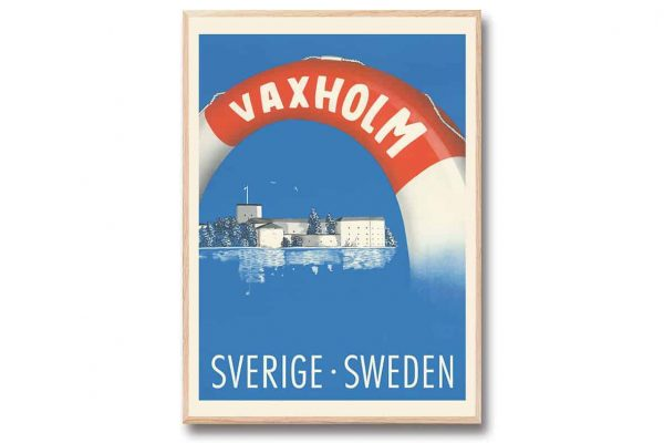 Poster Vaxholm 30x40 cm retroposter Come to Sweden Gullers Trading
