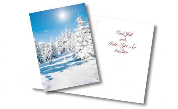 Julkort Vinterskog Kalenderspecialisten