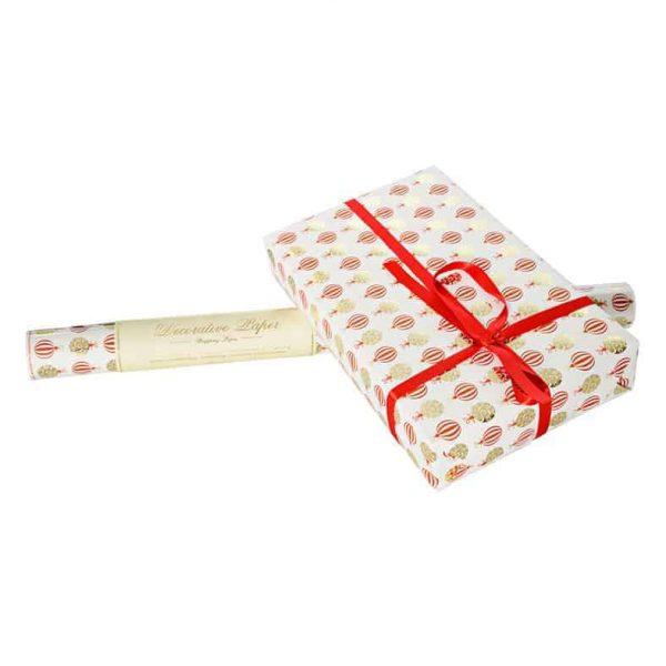Presentpapper ROSSI Christmas Balls Lyxigt julpapper julgranskulor