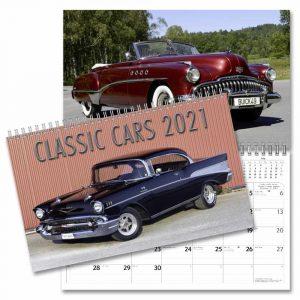 Väggkalender Classic Cars 2021 med bilder på klassiska amerikanska bilar i ett större format Kalenderspecialisten