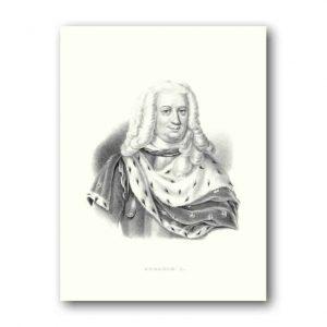 Poster och affisch Medium 300x400mm Svensk Kung Fredrik I Kalenderspecialisten