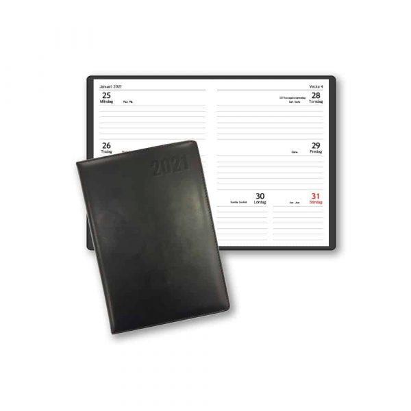 Fickalmanacka Pocket 2021 Svart Kalenderspecialisten