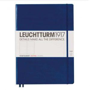 Leuchtturm Anteckningsbok A4 Mörkblå dotted hos Kalenderspecialisten
