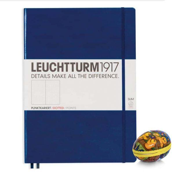 Leuchtturm Anteckningsbok A4 Mörkblå dotted Hos Kalenderspecialisten Påsk