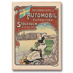 Poster Automobile Exposition 30x40 cm