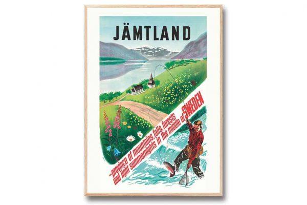 Poster Fiskare Jämtland 30×40 cm Kalenderspecialisten