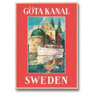 Poster Göta kanal Vadstena 30×40 cm Kalenderspecialisten