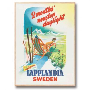 Poster Lapplandia 30×40 cm Gunnar Nordgren Kalenderspecialisten