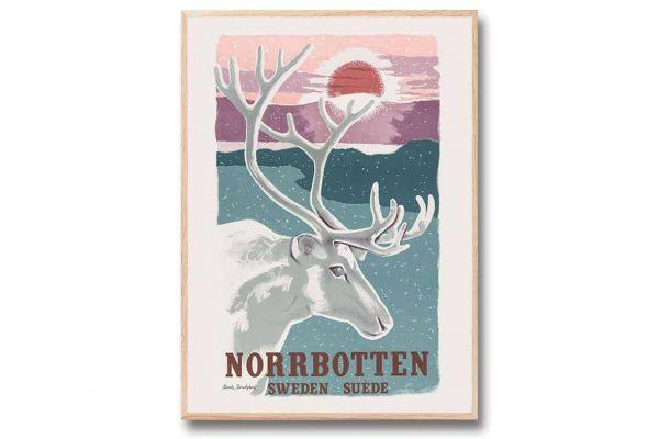 Poster Norrbotten 30×40 cm Ranke Sandgren Kalenderspecialisten