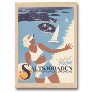 Poster Saltsjöbaden 30x40 cm Kalenderspecialisten