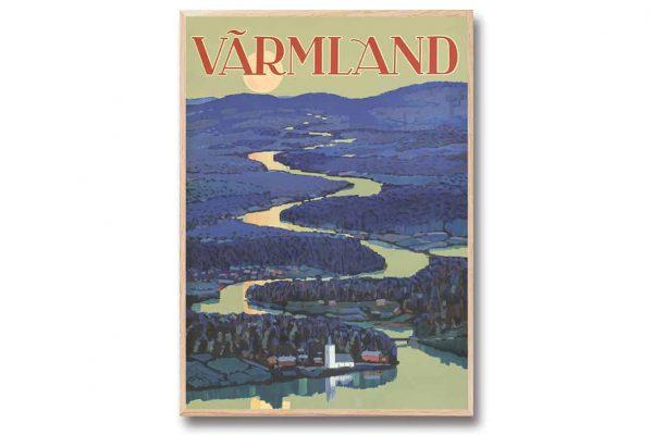 Poster Värmland 30x40 cm Kalenderspecialisten