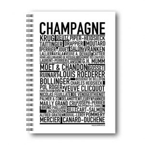 Skrivbok Champagne hos Kalenderspecialisten
