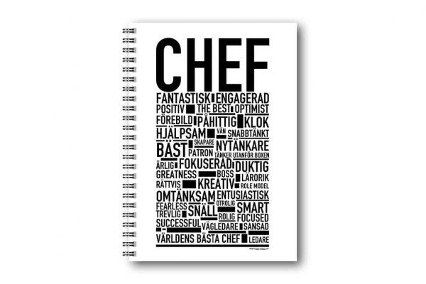 Skrivbok Chef hos Kalenderspecialisten