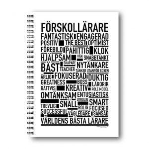 Skrivbok Förskollärare hos Kalenderspecialisten