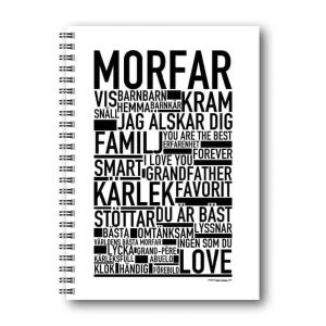 Skrivbok Morfar hos kalenderspecialisten