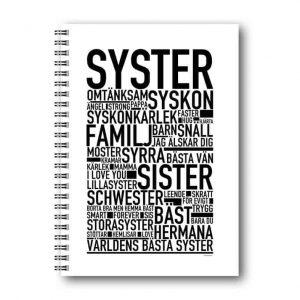 Skrivbok Syster hos Kalenderspecialisten