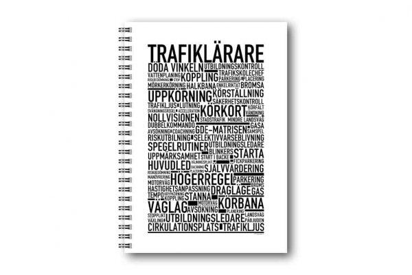 Skrivbok Trafiklärare hos kalenderspecialisten